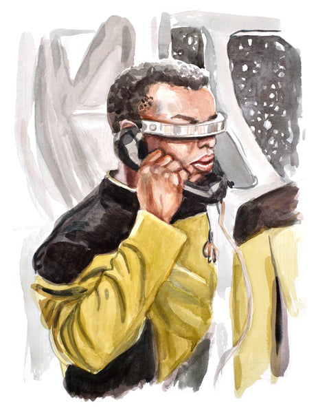 Calling... Geordi La Forge - Limited Edition Portrait Print