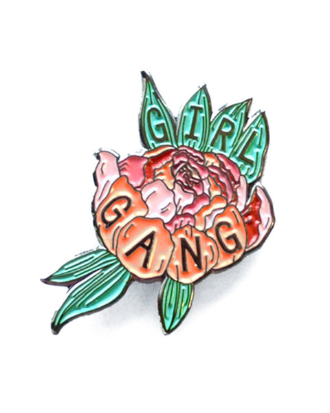 Girl Gang Flower - Peony Enamel Lapel Pin