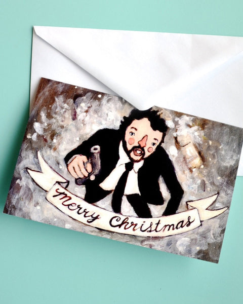 Hans Gruber - Die Hard Christmas Card