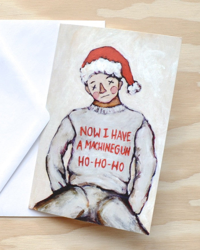 Now I Have a Machine Gun Ho-Ho-Ho - Die Hard Christmas Card