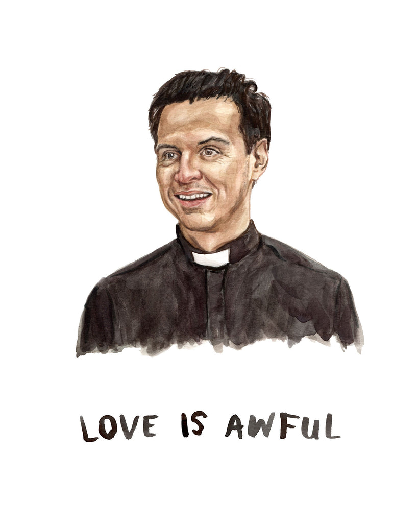 Hot Priest from Fleabag Painting Andrew Scott