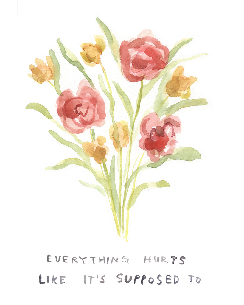 Everything Hurts - Original Watercolour Painting