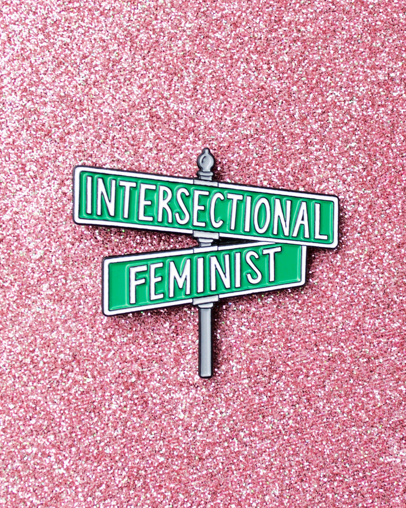 Intersectional Feminist - Street Sign Enamel Lapel Pin