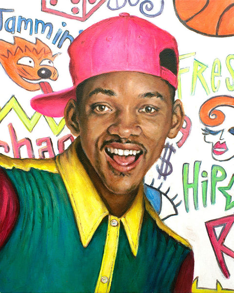 Fresh Prince of Bel Air - Will Smith Portrait Print