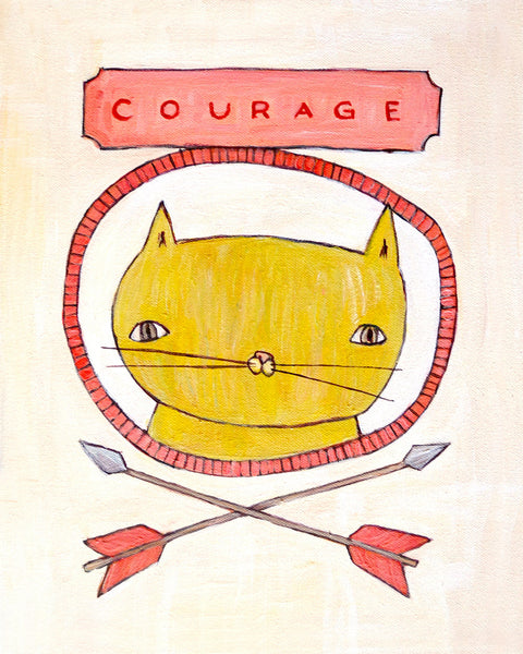 Courage Cat - Illustration Print