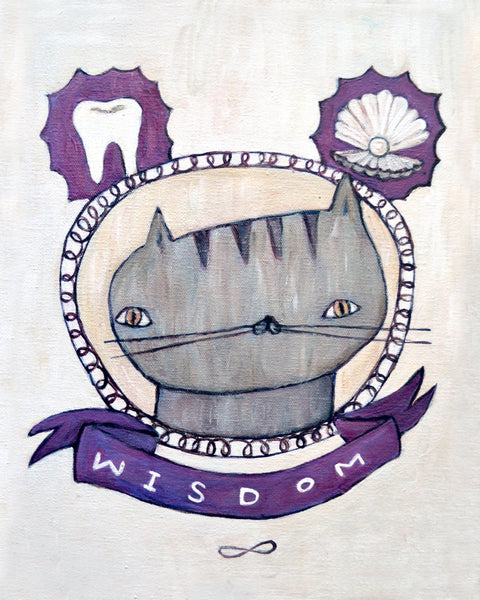 Wisdom Cat - Illustration Print