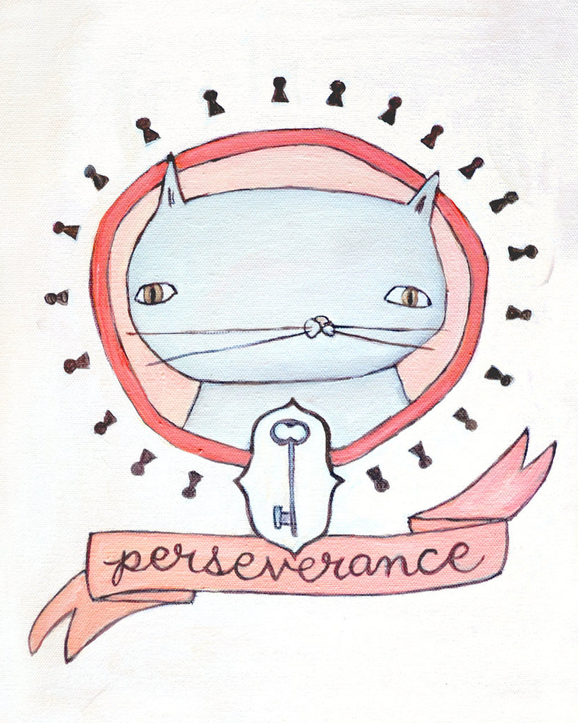 Perseverance Cat - Illustration Print