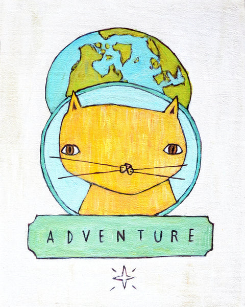 Adventure Cat - Illustration Print