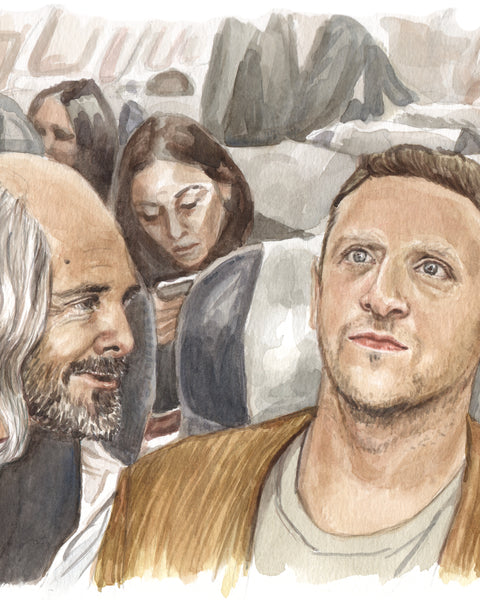 Will Forte and Tim Robinson - I Think You Should Leave - Original Watercolor Painting