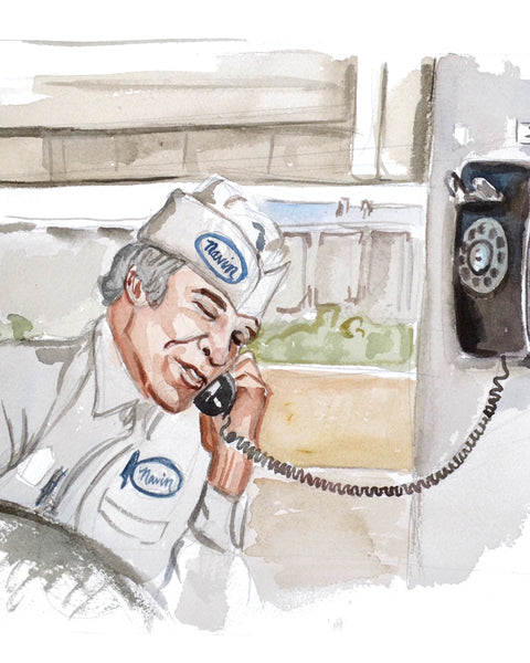 Calling... The Jerk - Limited Edition Portrait Print