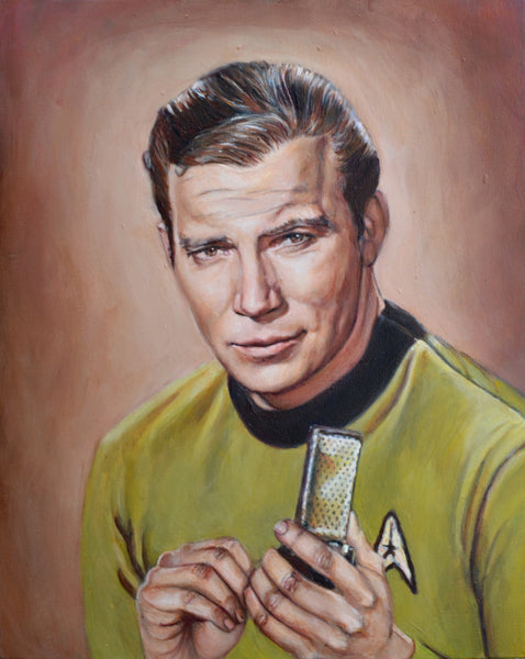 Captain James T Kirk - Star Trek Original Series Portrait Print