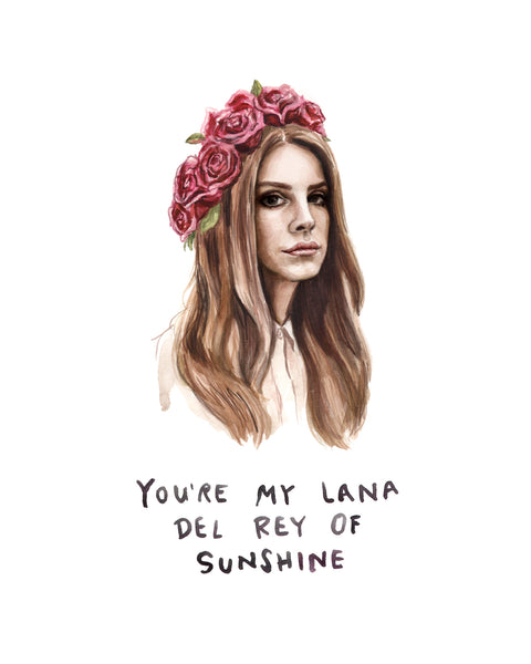 New heather buchanan lana del rey of sunshine lana del rey greeting card bookmarktalkfo Image collections