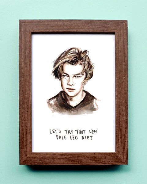 Pale Leo Diet - Young Leonardo DiCaprio - Watercolor Illustration Print