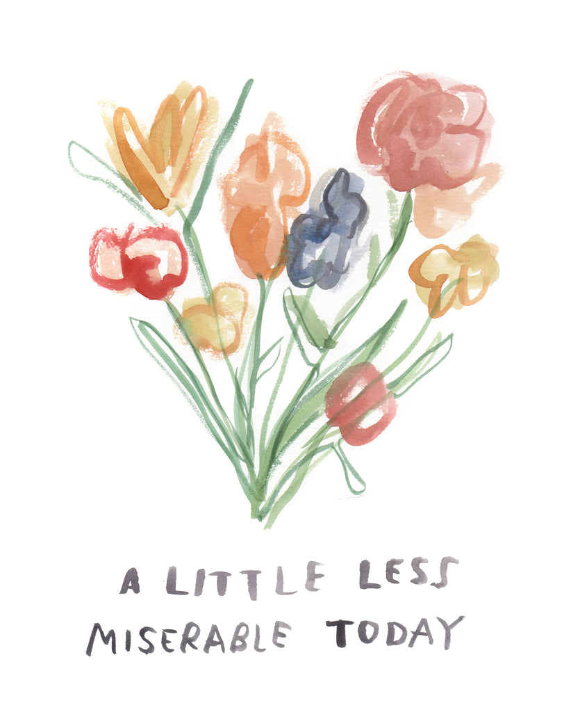 A Little Less Miserable - Original Watercolour Painting
