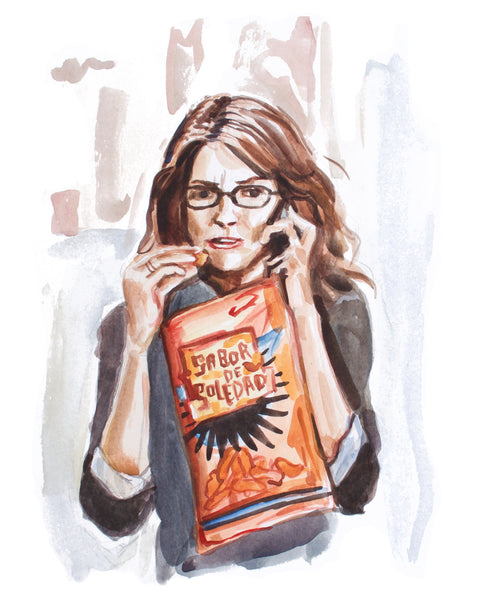 Calling... Liz Lemon - Limited Edition Portrait Print