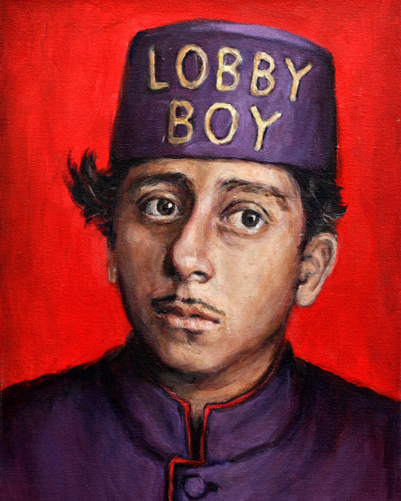 Lobby Boy - Grand Budapest Hotel - Wes Anderson Portrait Print