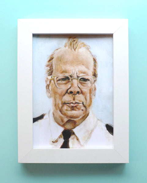 Bruce Willis as Captain Sharp - Moonrise Kingdom - Wes Anderson Portrait Print