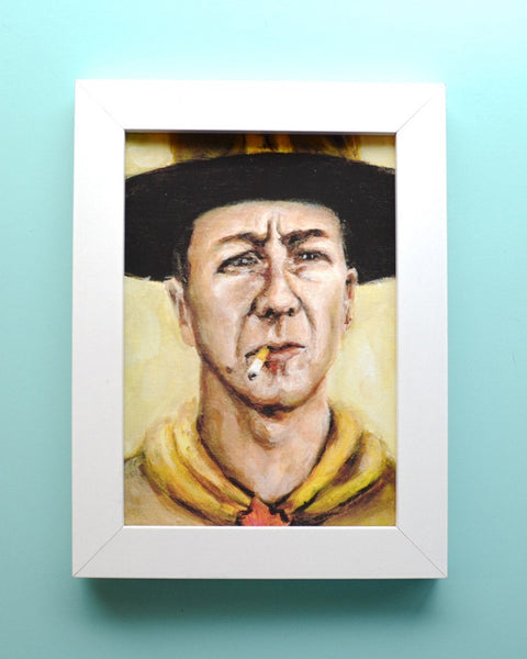 Scout Master Ward - Edward Norton - Moonrise Kingdom - Wes Anderson Portrait Print