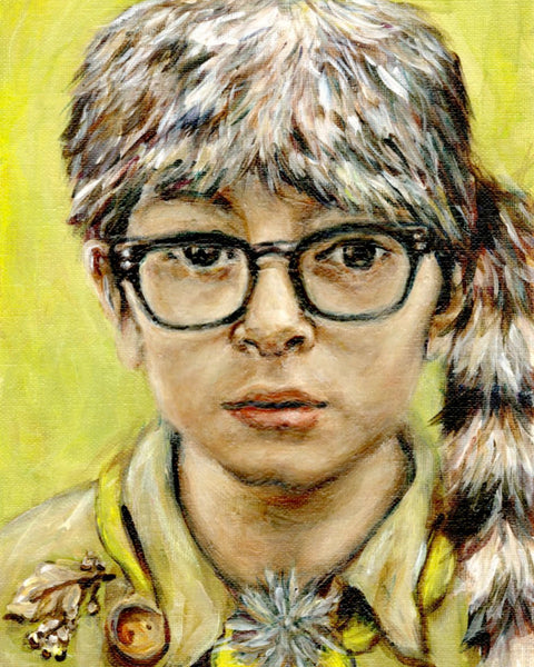 Sam Shakusky - Moonrise Kingdom - Wes Anderson Portrait Print