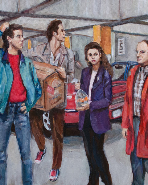 A Painting About Nothing - Seinfeld Parking Garage Print
