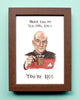 Captain Picard - Star Trek - Tea Earl Grey Hot - Watercolor Illustration Print