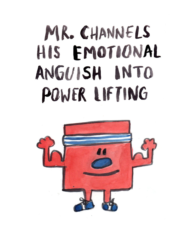 Mr. Emotional Anguish Power Lifter - Greeting Card