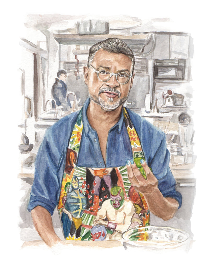 Rick Martinez - Bon Appetit Test Kitchen - Watercolor Illustration Print