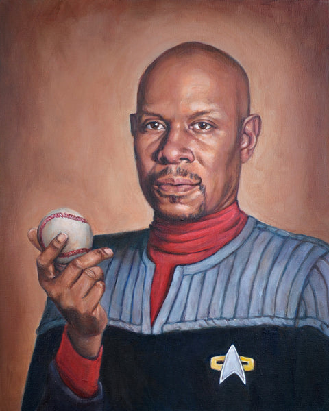 Captain Sisko - Star Trek Deep Space Nine Portrait Painting