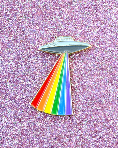 Gay Alien Pride - Enamel Lapel Pin