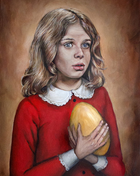 Veruca Salt - Willy Wonka Painting - Portrait Print