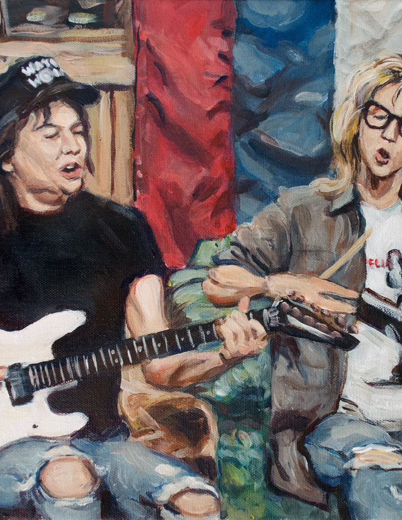 Waynes World Painting - Party Time Print