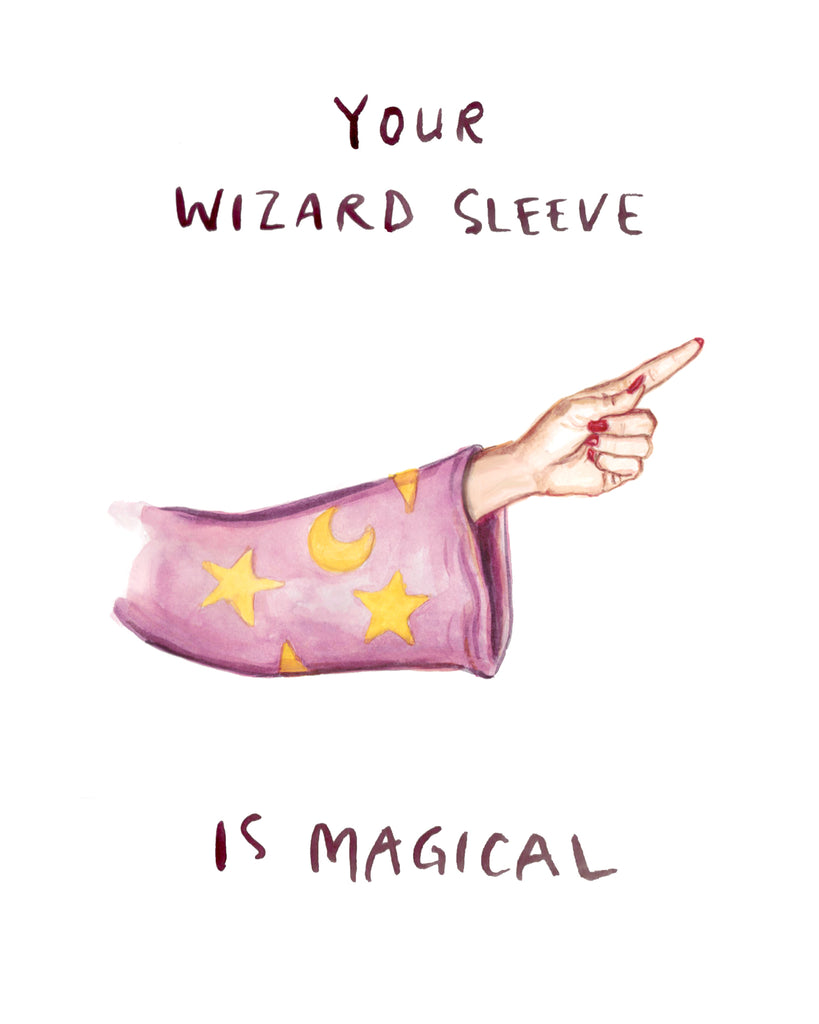 Wizard Sleeve - NSFW Greeting Card