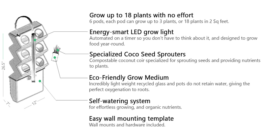 easy to grow with the vertical indoor garden by VerdeGardens