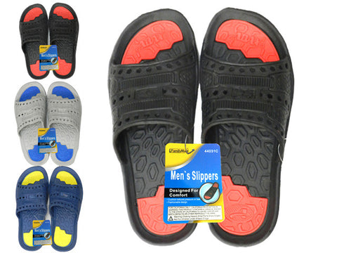 Wholesale Mens Sandals, Bulk Lot of 48 Pairs in Assorted Colors, Style 44031C0, Sizes 7-12 - Jackpotlots.com