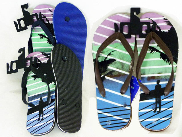 Wholesale Flip Flops, Bulk Lot of 72 Pairs in Assorted Colors, Style 441670, Men, Guys, Gents, Beach - Jackpotlots.com