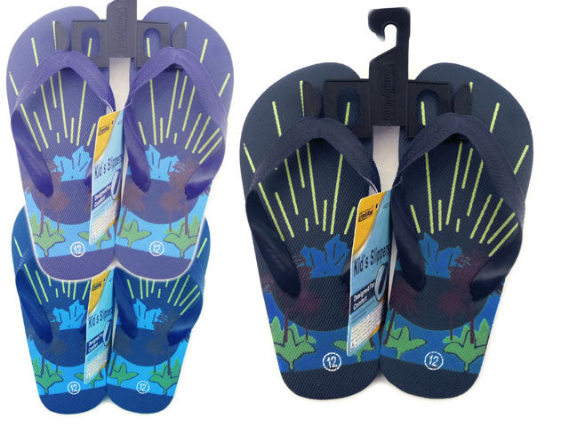 Wholesale Flip Flops Sandals, Bulk Lot of 72 Pairs in Assorted Colors, Style 44217H0, Boys Sizes 11-3 - Jackpotlots.com