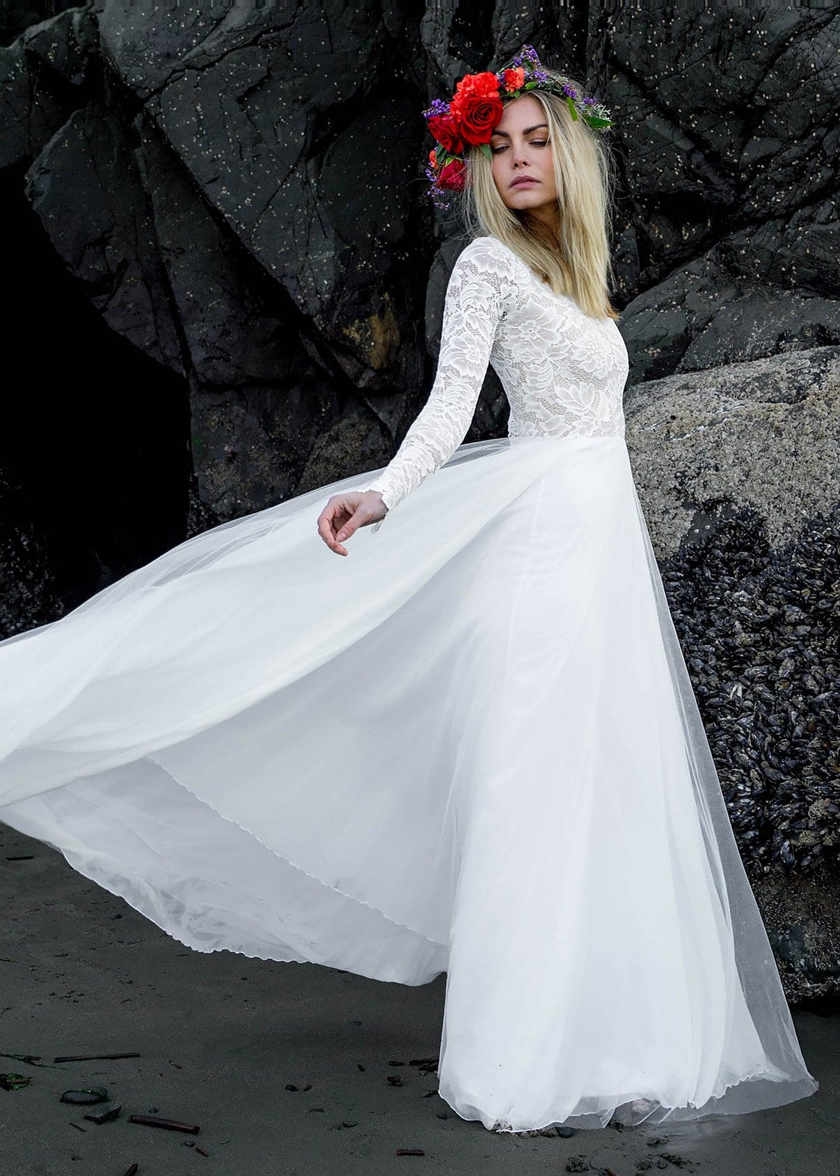 Zoey | WearYourLove | Romantic Long Sleeve Gown - Wear Your Love