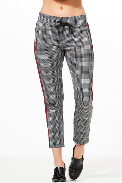Amia Plaid Tailored Trouser