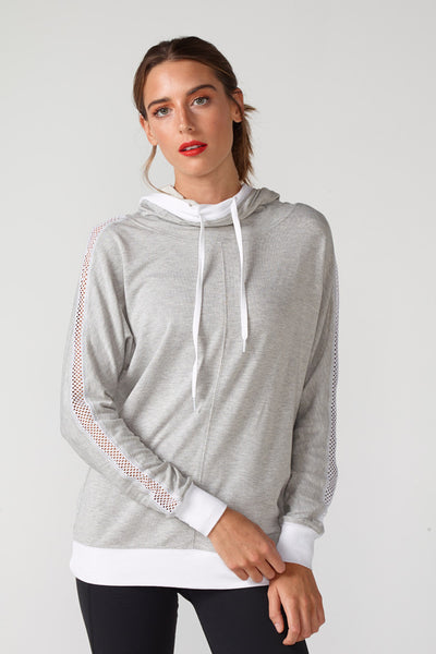 Audrey Hooded Sweatshirt With Mesh