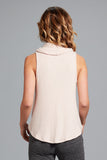 Cara Cowlneck Tank- Antique Blush