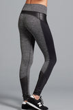 Gwen Herringbone Legging- Charcoal