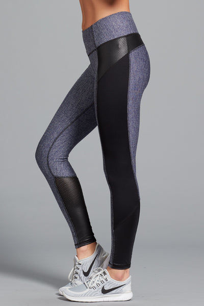 Gwen Herringbone Legging- Navy