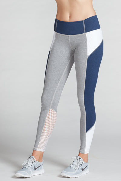 Gwen Colorblock Legging - Heather Compression