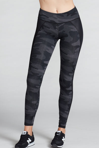 Jennifer Camo Legging- Charcoal