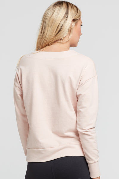 Marissa Lace Up Pullover - Blush