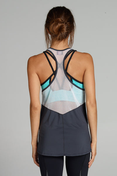Nicky Tank - Grey/White