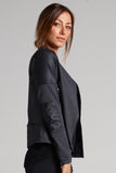 Sandra Moto Jacket With Faux Leather