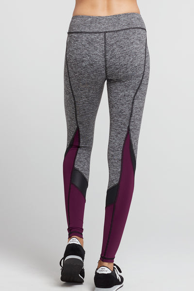 Tatiana Colorblock Legging Heather Grey/Raspberry