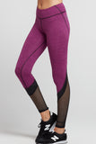 Tatiana Colorblock Legging- Mulberry/Black