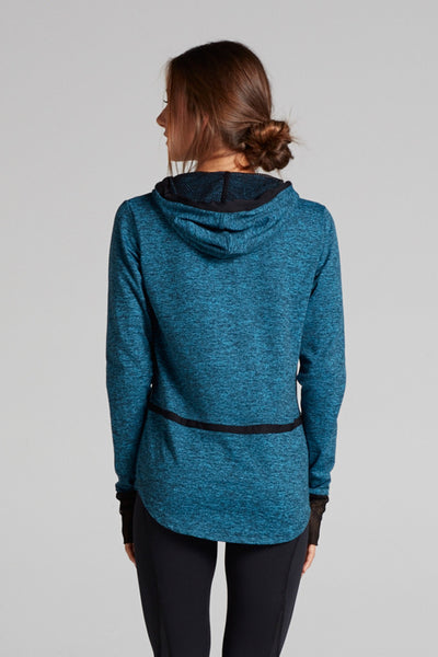 Veronica Hooded Pullover in Heather Dye